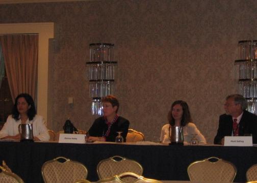 Core Committee Members in 2006-2007; From left: Shoreh Elhami, Diane Haley, Juna Papajorgji, Mark Salling