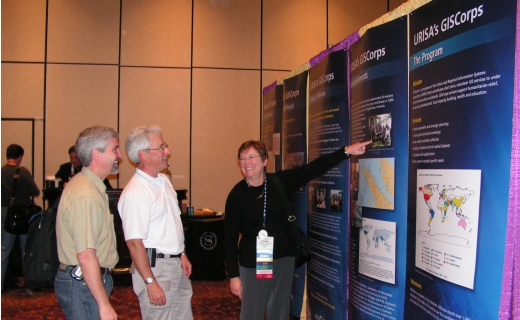 Conference attendees at the poster exhibit