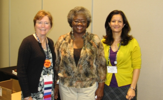 From L: Dianne Haley, Ingrid Bruce, Shoreh Elhami, CC Members