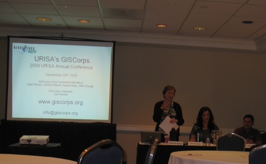 Dianne Haley, CC Member giving a presentation at the annual conference