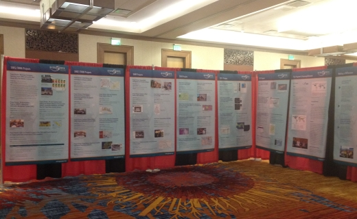 GISCorps posters in the exhibit hall