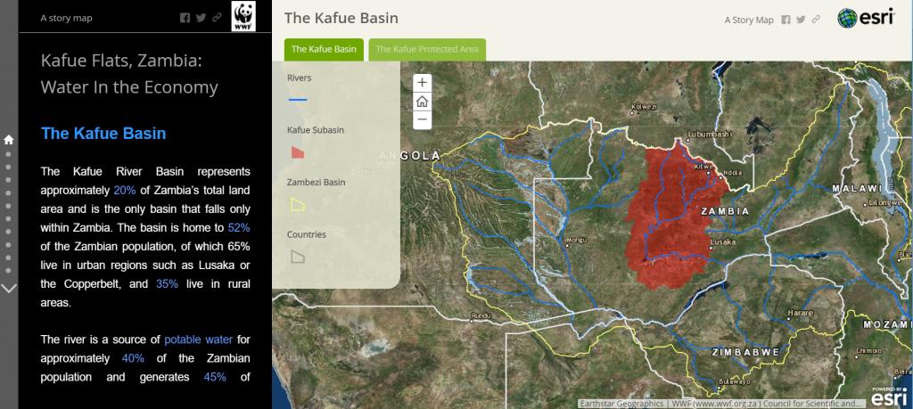 Story Map Kafue Basin tab