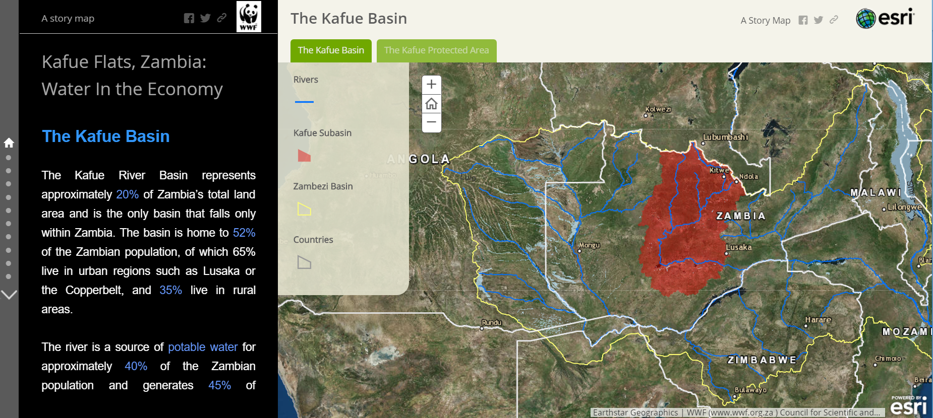 Story Map Kafue Basin Tab