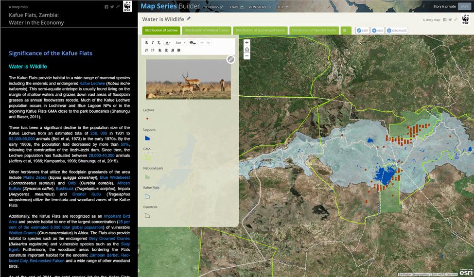 Story Map Water is Wildlife tab