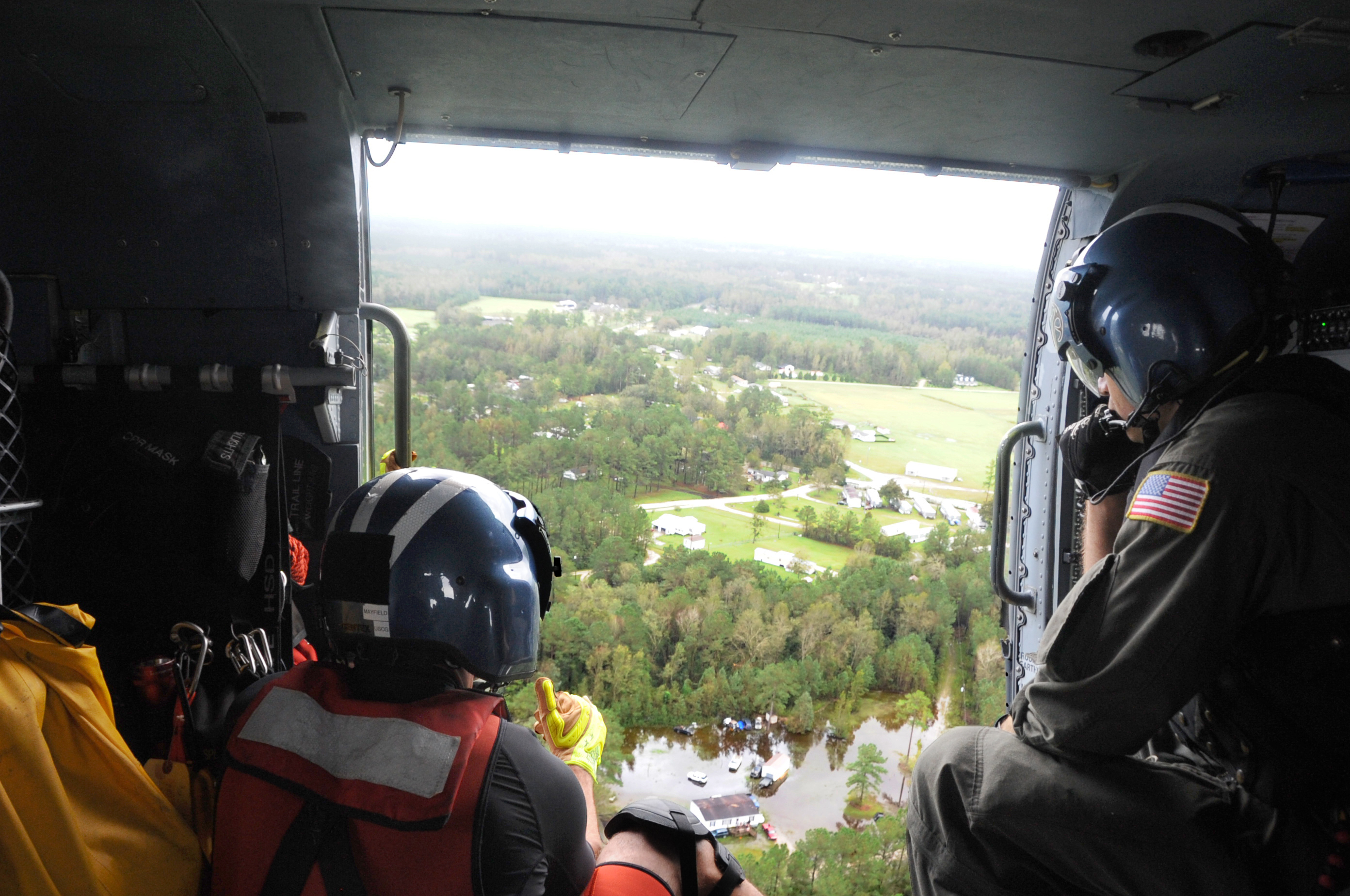 Coast Guard searches for survivors after Hurricane Florence, NC