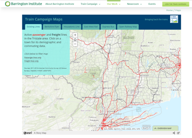 Train Campaign Story Map On The Train Campaign's Website.