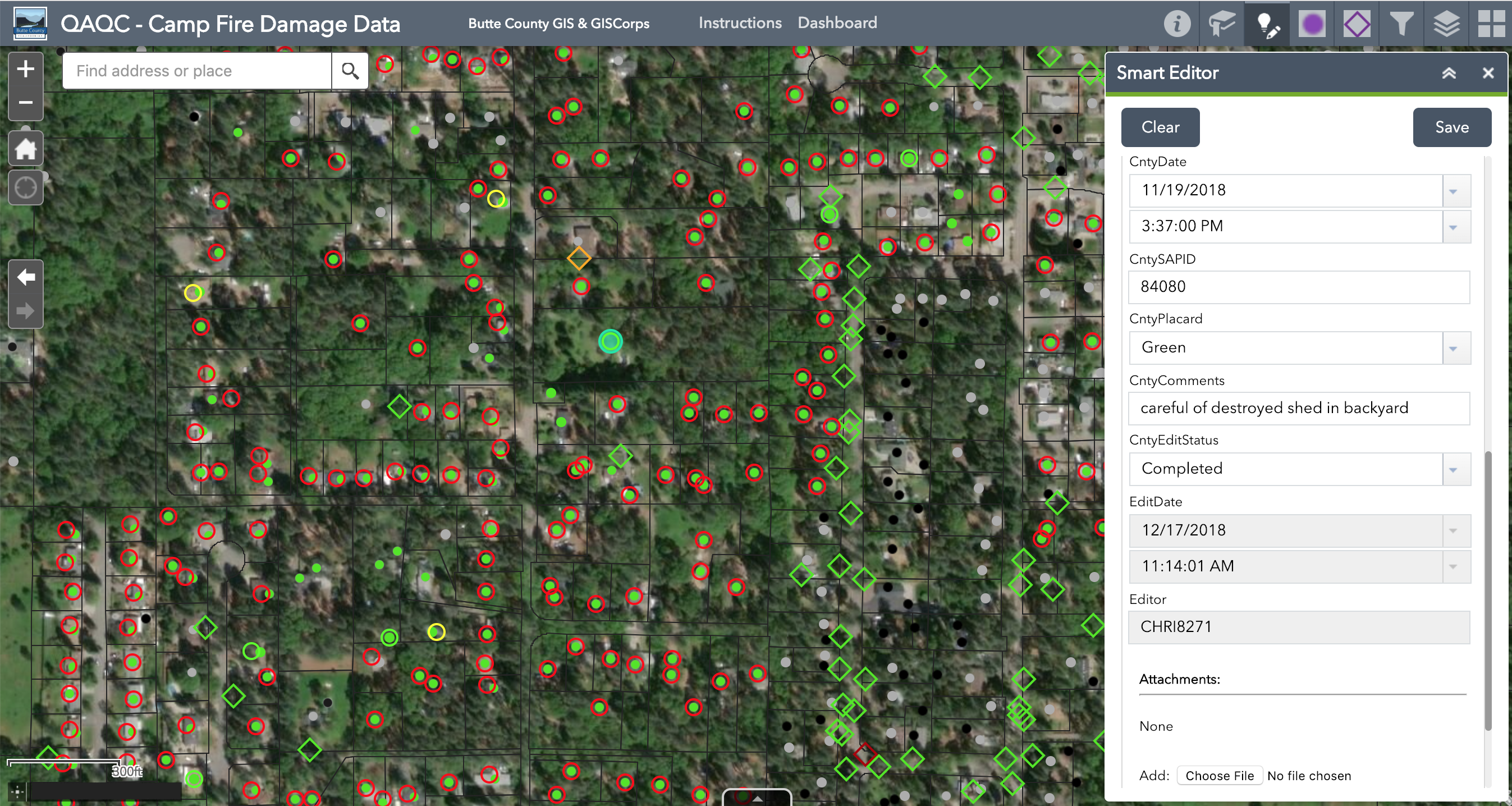 Consolidation Of Camp Fire Damage Data In Butte County, California