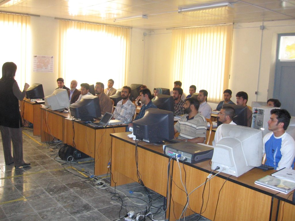 Giving a lecture to AIMS staff in Afghanistan