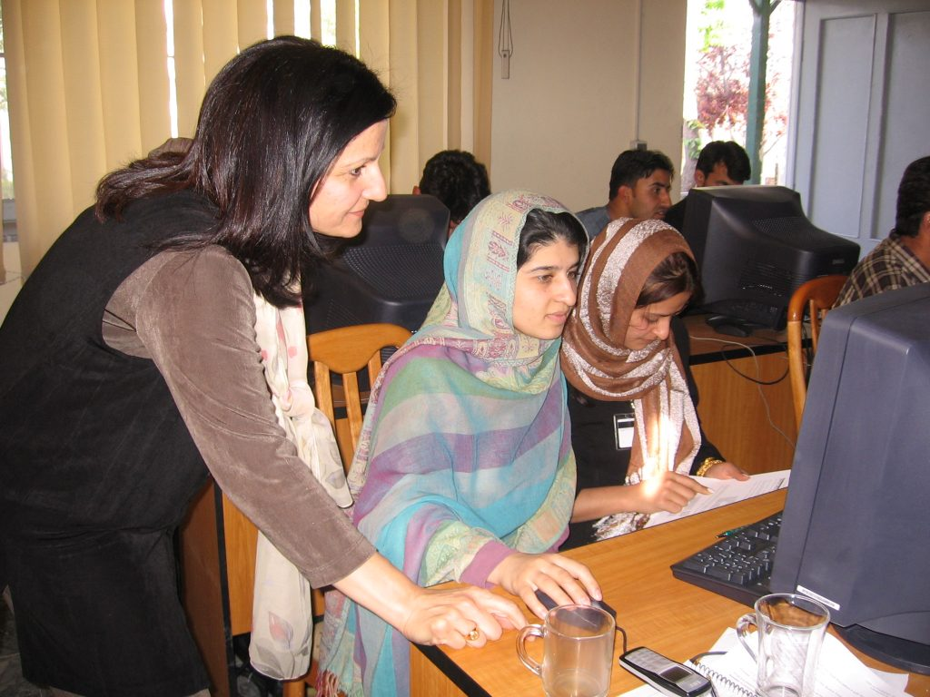 AIMS Staff at a hands-on workshop in Afghanistan