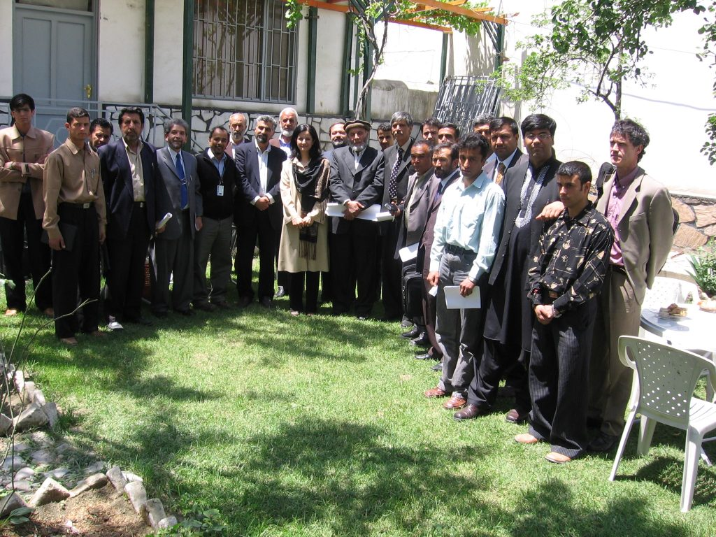 With Kabul municipality and several ministries' staff and elected officials