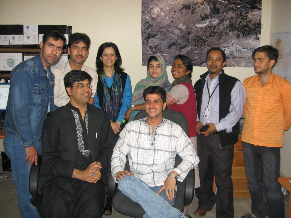 Shoreh Elhami and AIMS Staff in Kabul, Afghanistan