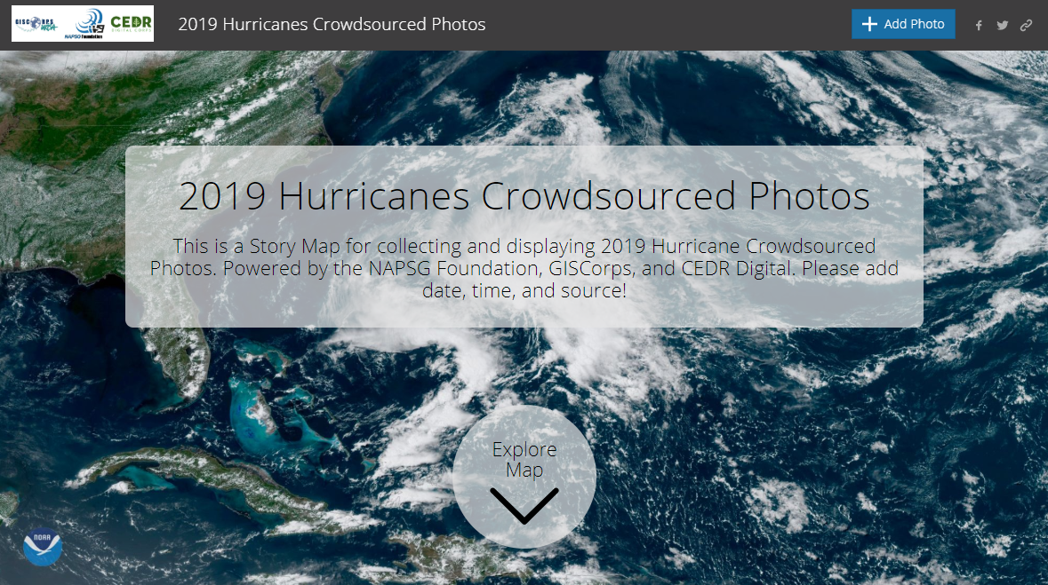 2019 Hurricanes Crowdsourced Photos App