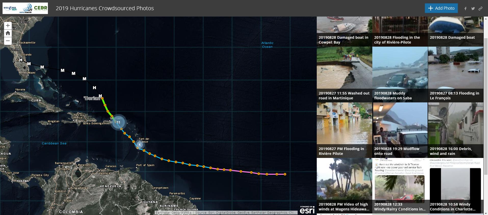NAPSG And GISCorps Partnering To Map Photos Of Hurricane Dorian