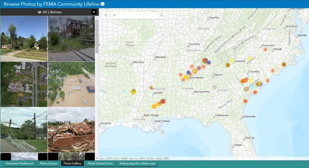 Volunteers geo-locate crowdsourced photos for Southeast tornado outbreak