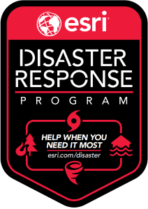 Esri's Disaster Response Program logo